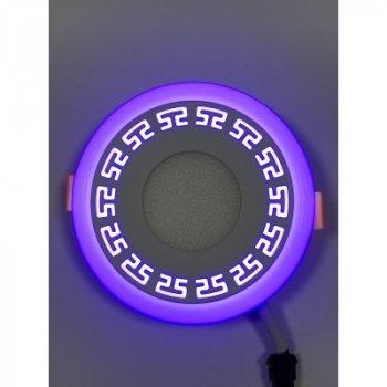 """LED панель """"Грек"""" 3+3W з синім підсвічуванням 350Lm 4500K 85-265V коло """"LEMANSO"""" LM533"""