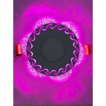 """LED панель """"Тінь"""" 3+3W з рожевою підсвічуванням 350Lm 4500K 175-265V коло """"LEMANSO"""" LM1017"""