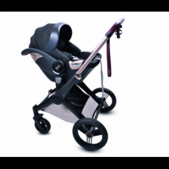 Дитяча Коляска 4в1 Shom Roberto Verino Elegance Midnight Black (Люлька + Прогулянка + Автокрісло + База) (від 0 до 3 років) Чорний