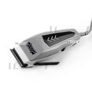 Машинка для стрижки волос и бороды от сети с 4 насадками 3,6,9,12мм DSP Серая (90013)