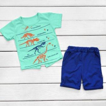 Детский комплект футболка и шорты Dexter`s юрский период синий