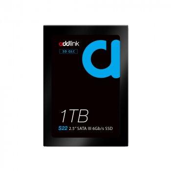 """SSD накопичувач AddLink S22 1TB 2.5"""" SATA III 6Gb/s QLC SSD (ad1TBS22S3S)"""