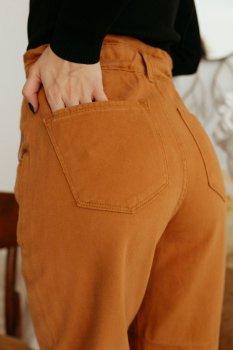 Женские джинсы FAF 02512 Кэмел
