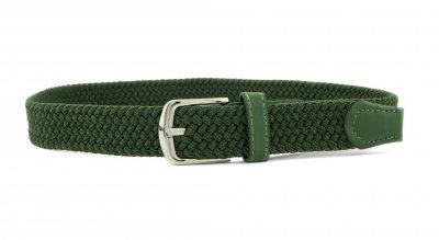 Детский плетеный ремень резинка NA 3 см для брюк зеленый 75 см (NA111824)