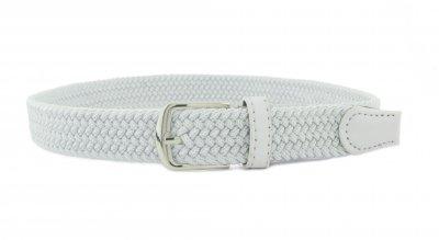Детский плетеный ремень резинка NA 3 см для брюк белый 75 см (NA111825)