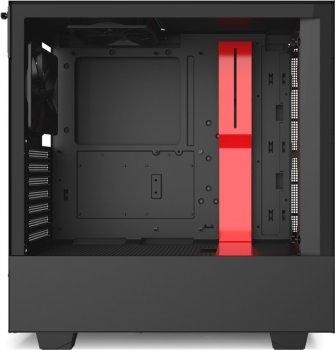 Корпус NZXT H510 Matte Black-Red (CA-H510B-BR)