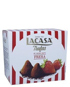 Конфеты трюфели Lacasa Trufas al cacao puro Fresa c клубникой 200 г (55875)