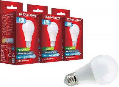 Світлодіодна лампа Ultralight LED A60 10W 4100K E27 (UL-51881) 3 шт.