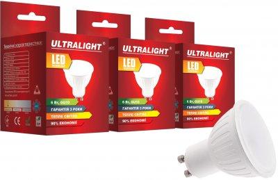 Світлодіодна лампа Ultralight LED MR16 6 W 3000 K GU10 (UL-51899) 3 шт.