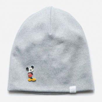 Демисезонная шапка Модный карапуз 03-01097-1 44-46 см Светло-серая (4824867910977)
