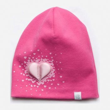 Демисезонная шапка Модный карапуз 03-01098-2 52-54 см Малиновая (4824870210989)