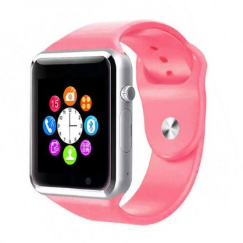 Розумні Смарт-годинник Smart Watch A1 Original PINK PREMIUM годинник андроїд ( smart watch ) , фітнес годинник , розумний браслет , фітнес трекер , смарт браслет ( пульсометр ,крокомір ,з вимірюванням тиску )