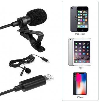 Петличний мікрофон для iPhone, iPad Alitek JH-041 Lightning (482491)