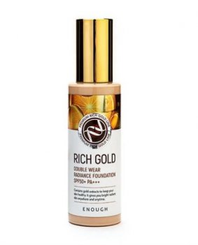 Тональная основа с золотом Enough Rich Gold Double Wear Radiance Foundation SPF50+ PA+++ 13 (8809605871938)