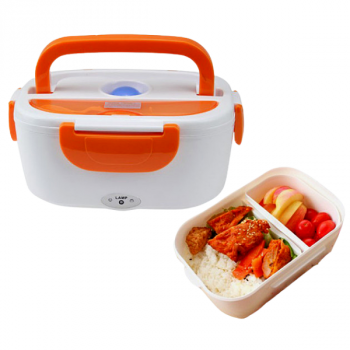 Ланч бокс термо з підігрівом,контейнер для розігріву їжі з підігрівом від розетки Electric Lunch Box