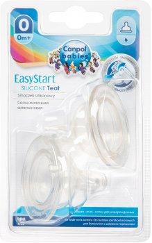 Соска силиконовая Canpol Babies EasyStart мини до бутылочек с широким отверстием 2 шт (21/729)
