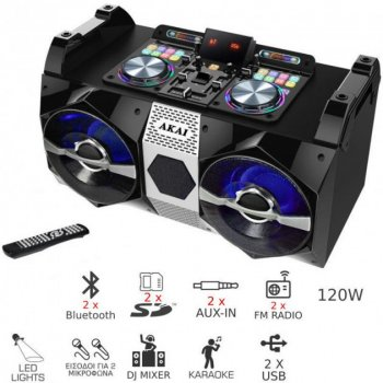 Портативна акустична система AKAI DJ-530 (AKAI DJ-530)