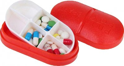 Органайзер для таблеток Lifelounge 10х5 см Красный (10682-1)