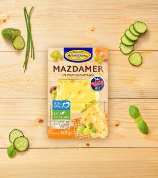 Сыр Wloszczowa МАЗДАМЕР нарезка 45% 150гр