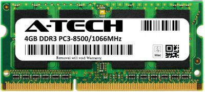Оперативная память A-Tech 4GB DDR3-1066 (PC3-8500) SODIMM 2Rx8 (AT4G1D3S1066ND8N15V)