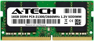 Оперативная память A-Tech 16GB DDR4-2666 (PC4-21300) SODIMM 2Rx8 (AT16G1D4S2666ND8N12V)