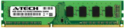 Оперативная память A-Tech 4GB DDR3-1066 (PC3-8500) DIMM 2Rx8 (AT4G1D3D1066ND8N15V)