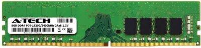Оперативная память A-Tech 8GB DDR4-2400 (PC4-19200) DIMM 2Rx8 (AT8G1D4D2400ND8N12V)