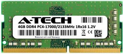 Оперативная память A-Tech 4GB DDR4-2133 (PC4-17000) SODIMM 1Rx16 (DDR4/2133C15R1_16S/4G)