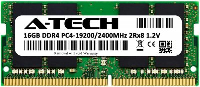 Оперативная память A-Tech 16GB DDR4-2400 (PC4-19200) SODIMM 2Rx8 (AT16G1D4S2400ND8N12V)