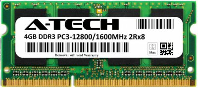 Оперативная память A-Tech 4GB DDR3-1600 (PC3-12800) SODIMM 2Rx8 (AT4G1D3S1600ND8N15V)