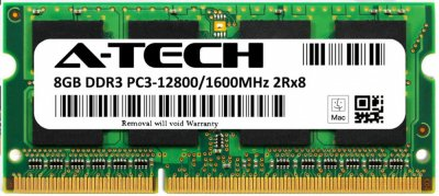 Оперативная память A-Tech 8GB DDR3-1600 (PC3-12800) SODIMM 2Rх8 (AT8G1D3S1600ND8N15V)