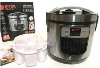 Мультиварка Bitek йогуртница объемом 6 л мощностью 860 Вт на 45 программ (BT-00045)