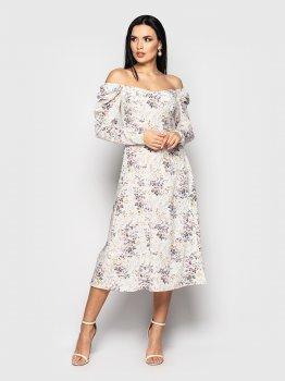 Плаття Larionoff Mirabella Молочне квітка