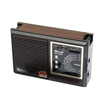 Радиоприемник GOLON RX-9933UAR сетевой и аккумуляторный Портативный с телескопической антенной всеволновой Цифровое мини радио с USB mp3, WMA беспроводной FM/AM