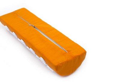 Масажний напіввалик акупунктурний Relax 38*12*6 см помаранчевий