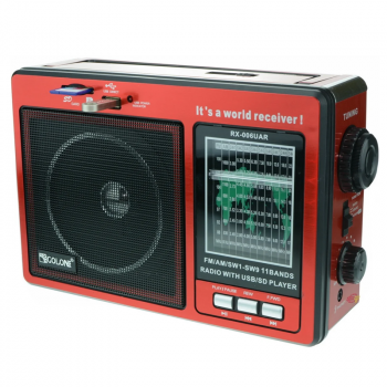 Цифрове міні радіо GOLON RX-006UAR Радіоприймач всехвильовий портативний з телескопічною антеною з USB mp3, WMA бездротовий FM/AM мережевий і акумуляторний