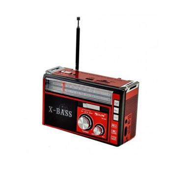Цифрове міні радіо GOLON RX-381 Радіоприймач всехвильовий портативний з телескопічною антеною з USB mp3, WMA бездротовий FM/AM мережевий і акумуляторний