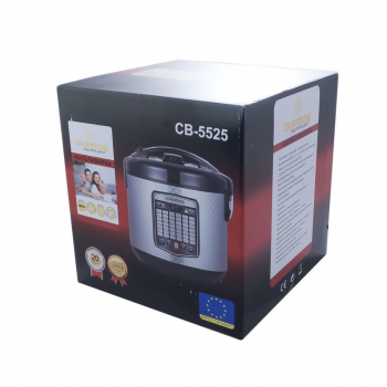 Мультиварка Crownberg CB 5525 + Функция йогуртницы + Пароварка 860Вт с 42 программами с чашой на 5 литров