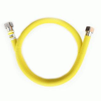"Шланг для газу з нерж. сталі Eco-Flex Супер d16 3/4"" ВВ 50 см ПВХ-покриття"