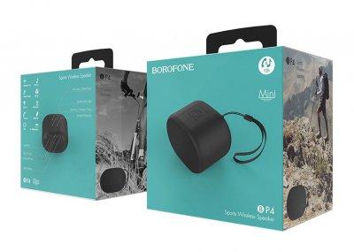 Портативна акустика Borofone BP4 Enjoy Sports Wireless Speaker Чорний