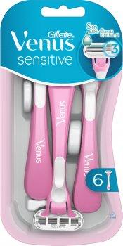 Одноразовые станки для бритья (Бритвы) женские Venus Sensitive 6 шт (7702018545773)