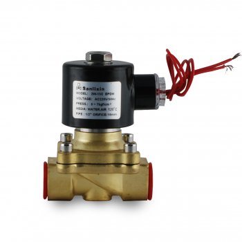 """Нормально закритий клапан Sanlixin прямої дії 3/4"""" RF-SV-2W-20C (220V)"""