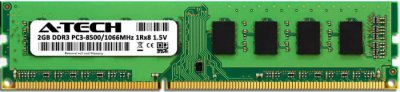 Оперативная память A-Tech 2GB DDR3-1066 (PC3-8500) DIMM 1Rх8 (AT2G1D3D1066NS8N15V)