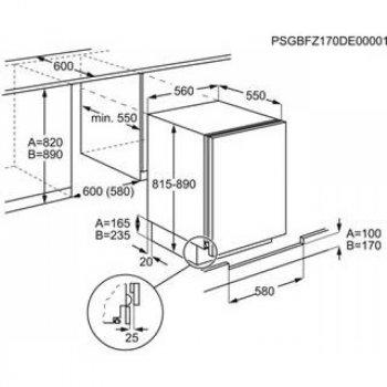 Холодильник вбудований Electrolux - RXB 2 AF S 82