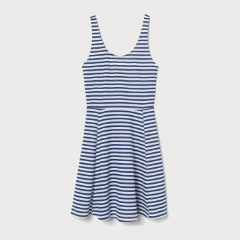 Сарафан H&M 2303-6811809 Белый с синим