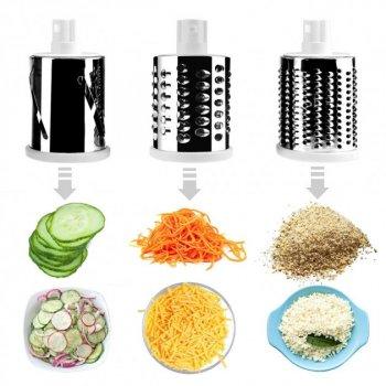 Овощерезка ручная для дома механическая кухонная для овощей Tabletop Drum Grater Kitchen Master Зеленая TRG-65289
