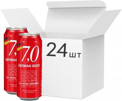 Упаковка пива 7,0 German Beer Lager bier светлое фильтрованное 5.4% 0.5 л x 24 шт (4014086073335)