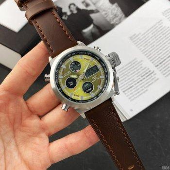 Часы наручные AMST 3003 Silver-Green Brown Wristband