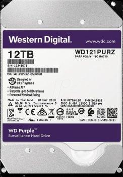 Накопичувач HDD SATA 12.0TB WD Purple 7200rpm 256MB (WD121PURZ)