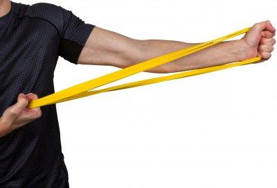 Гумова петля для тренувань PowerPlay 4115 Level 1 5-14 кг Жовта (PP_4115_Yellow_(5-14 kg))